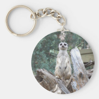 Meerkat Keyring Basic Round Button Keychain