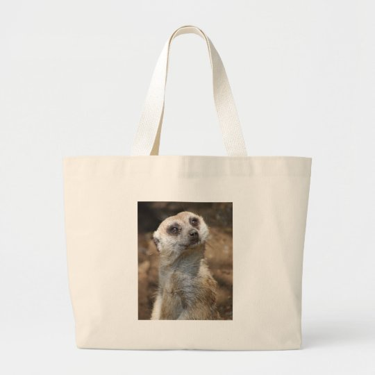 Meerkat Large Tote Bag