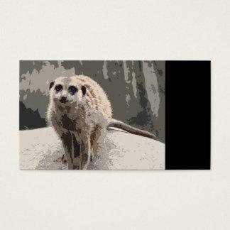 Meerkat lindo, curioso tarjetas de visita