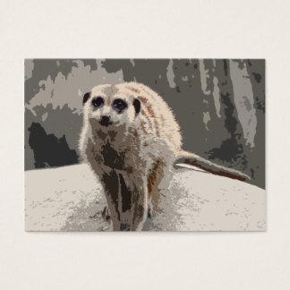 Meerkat lindo, curioso tarjetas de visita grandes