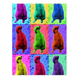 Meerkat Looking Up Pop Art Popart Multi-Panel Postcard