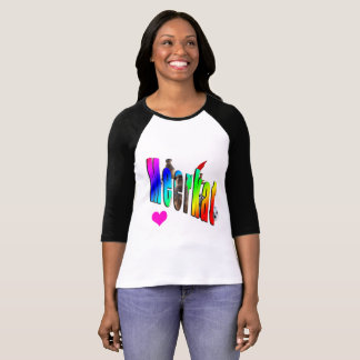 Meerkat Love Logo, Ladies Raglan T-shirt