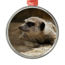 Meerkat Metal Ornament