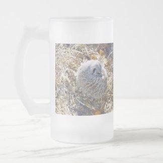 Meerkat_Nest_Big_Frosted_Glass_Beer_Coffee_Mug Taza De Cristal