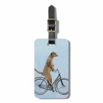 Meerkat on Bicycle 2 Luggage Tag