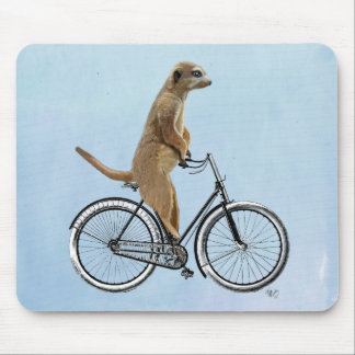 Meerkat on Bicycle 2 Mouse Pad