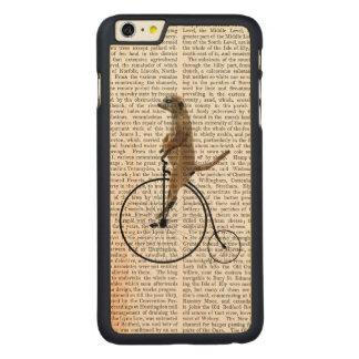 Meerkat on Black Penny Farthing Carved® Maple iPhone 6 Plus Case