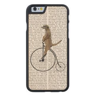 Meerkat on Black Penny Farthing Carved® Maple iPhone 6 Slim Case