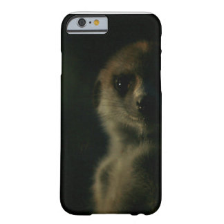 Meerkat oscuro - caso del iPhone 6 Funda Para iPhone 6 Barely There