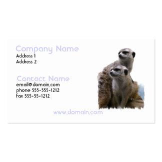 Meerkat Pair Business Card