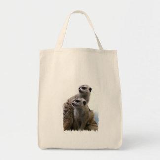 Meerkat Pair Grocery Bag
