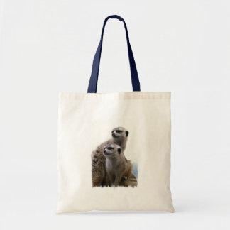Meerkat Pair Small Canvas Bag