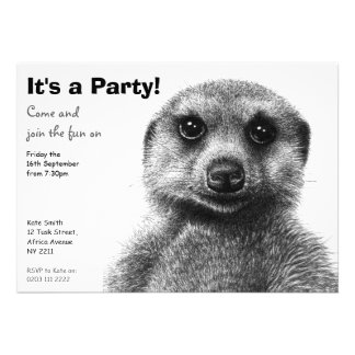 Meerkat Party Invitation