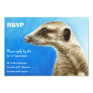 Meerkat Party RSVP Card