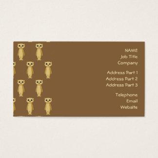 Meerkat Pattern. Business Card