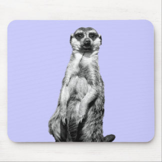 Meerkat Periwinkle Background Mouse Pad