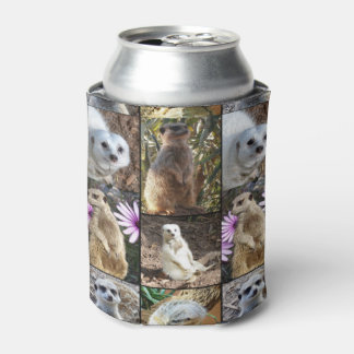 Meerkat Photo Collage, Can Cooler