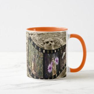 Meerkat Photo Strip Orange Ringer Coffee Mug. Mug