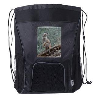 Meerkat prudente mochila de cordón