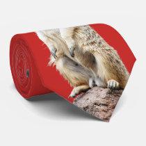 Meerkat Santa Claus Neck Tie