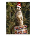 Meerkat, Santa's little helper Card