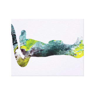 Meerkat silhouette canvas print