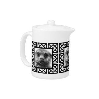 Meerkat Square Pattern Teapots