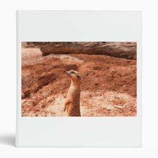 meerkat standing up left side meer cat animal vinyl binder
