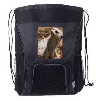 Meerkat sucio mochila de cordón
