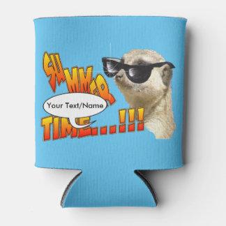 Meerkat Summer Cust. Text Can Cooler
