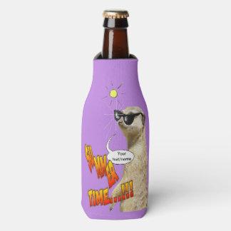 Meerkat Summer Time Customizable Bottle Cooler