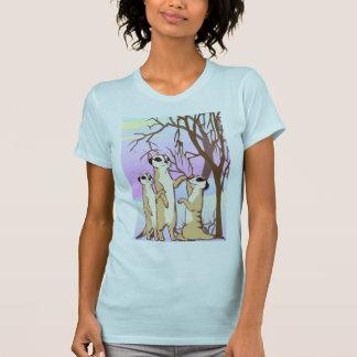 Meerkat T shirt, Family in the snow