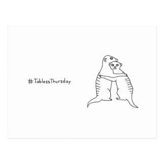 Meerkat #TablessThursday Postcard