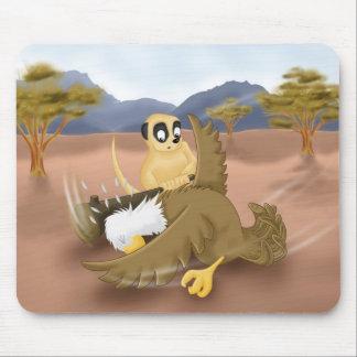 meerkat vs eagle mouse pad