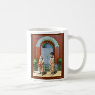 Meerkat Wedding Classic White Coffee Mug