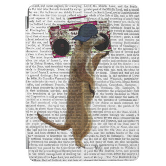 Meerkat with Boom Box Ghetto Blaster 2 iPad Air Cover