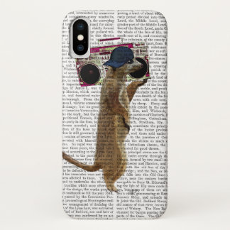 Meerkat with Boom Box Ghetto Blaster 2 iPhone X Case