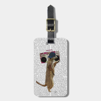 Meerkat with Boom Box Ghetto Blaster 2 Luggage Tag