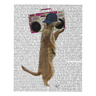 Meerkat with Boom Box Ghetto Blaster Panel Wall Art
