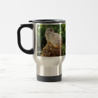 Meerkat With High Views, Travel Mug