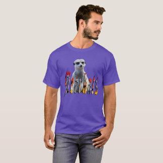 Meerkat With Meerkats Logo, Mens Purple T-shirt
