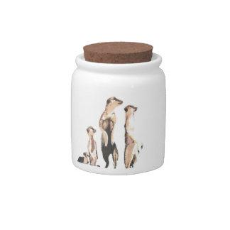 Meerkats Candy Jar