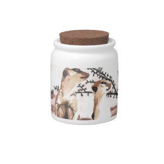 meerkats candy jars
