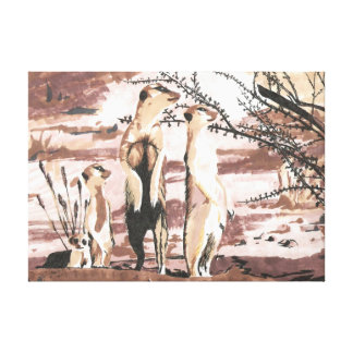 Meerkats Gallery Wrapped Canvas