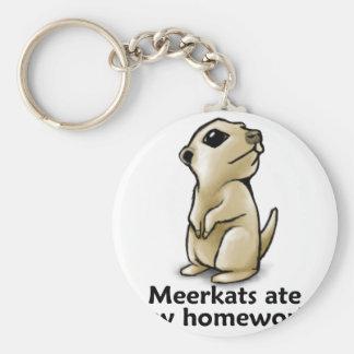 Meerkats comió mi preparación llavero redondo tipo pin