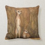 Meerkats Cushion Throw Pillows