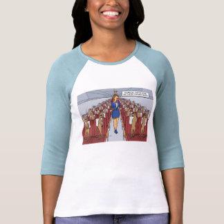 Meerkats en una camiseta plana