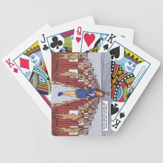 Meerkats en una cubierta de tarjetas plana cartas de juego