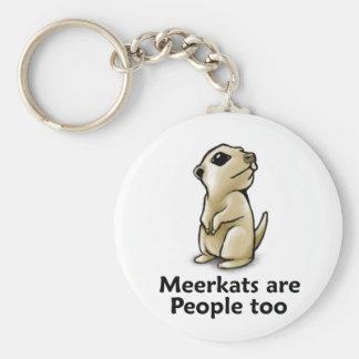 Meerkats es gente también llavero redondo tipo pin