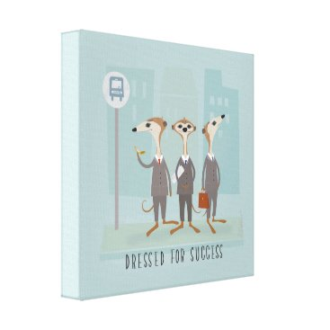 Professional Business Meerkats in Suits Canvas Print